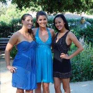 Betsey Johnson sequin halter dress - prom dress